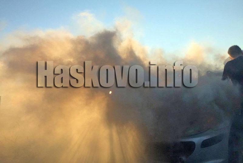 Горяха два микробуса в Сталево и Фиат в Харманли
