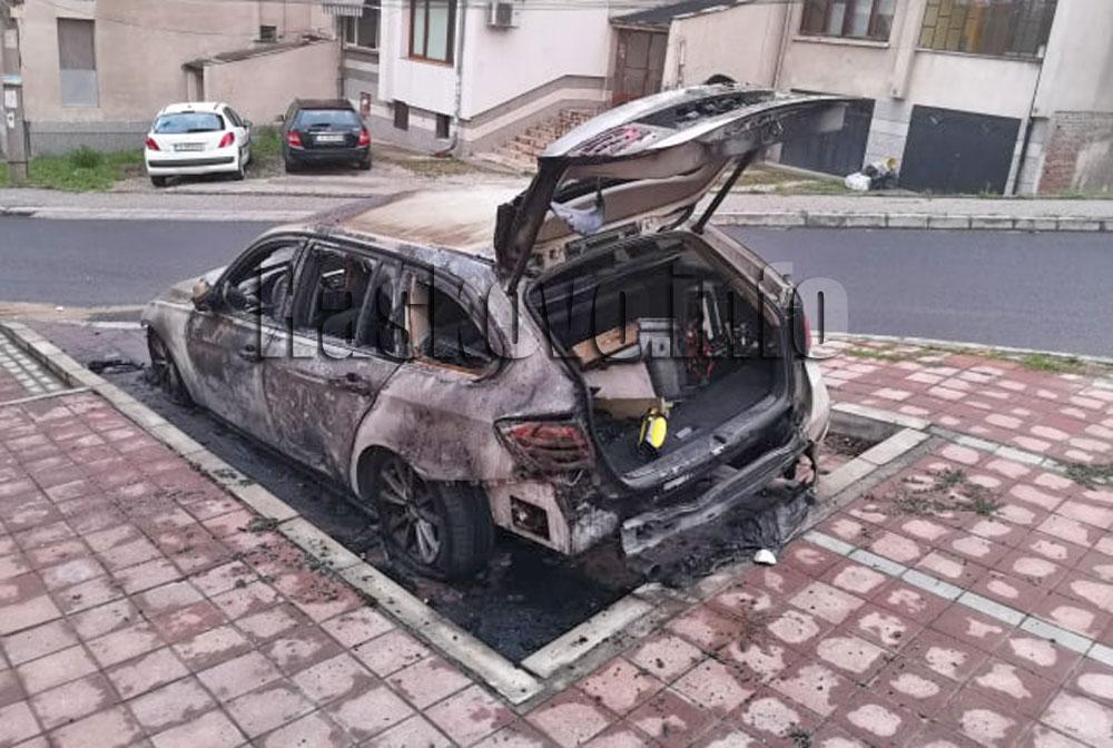Задържаха мъж за палеж на БМВ в Хасково