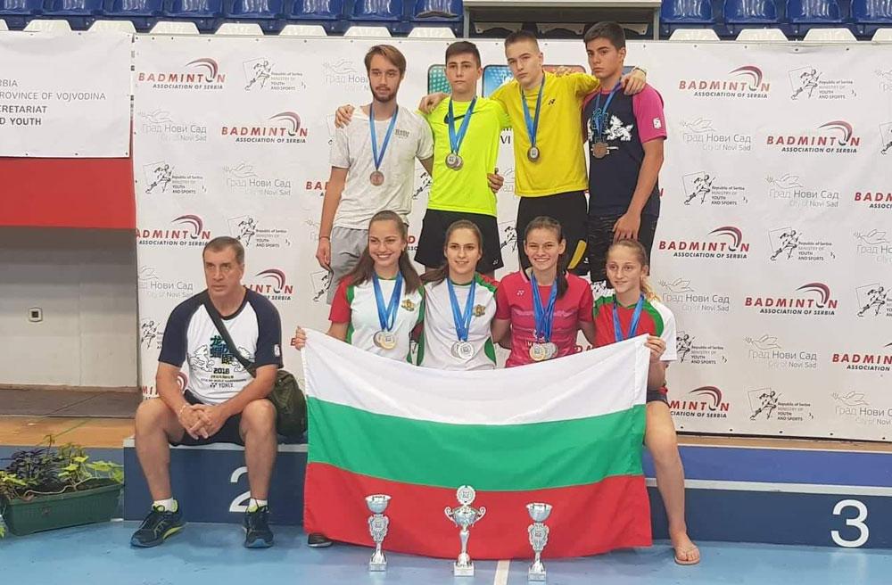 Българският отбор по бадминтон спечели бронзовите медали на Балканиадата