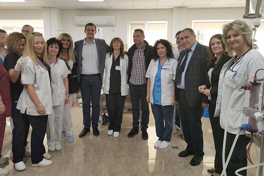 Д-р Гелов: Ремонтът на Отделението по хемодиализа се случи благодарение на Станислав Дечев и Делян Добрев